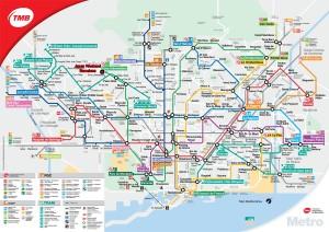 mapa metro barcelona