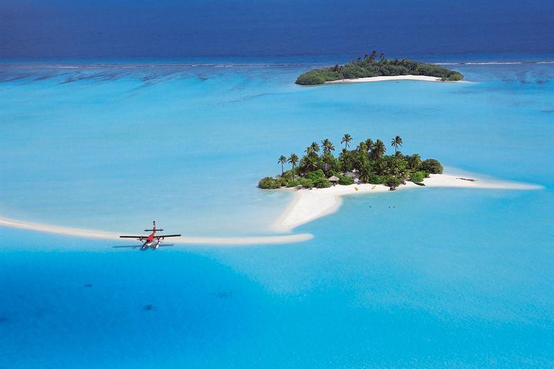 destinos de playa en invierno. islas maldivas