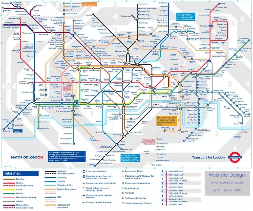 Transporte Público de Londres: Mapa Metro Londres