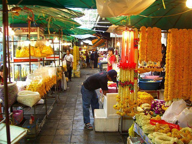 marcado de las flores bangkok
