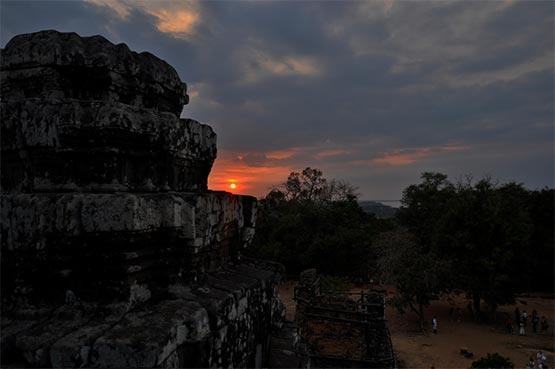 puesta de sol desde Phnom Bakheng