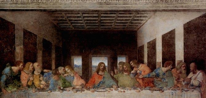 Última Cena de Leonardo de Vinci.