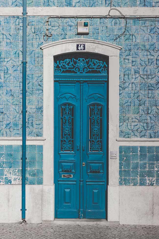 azulejos azules portugal