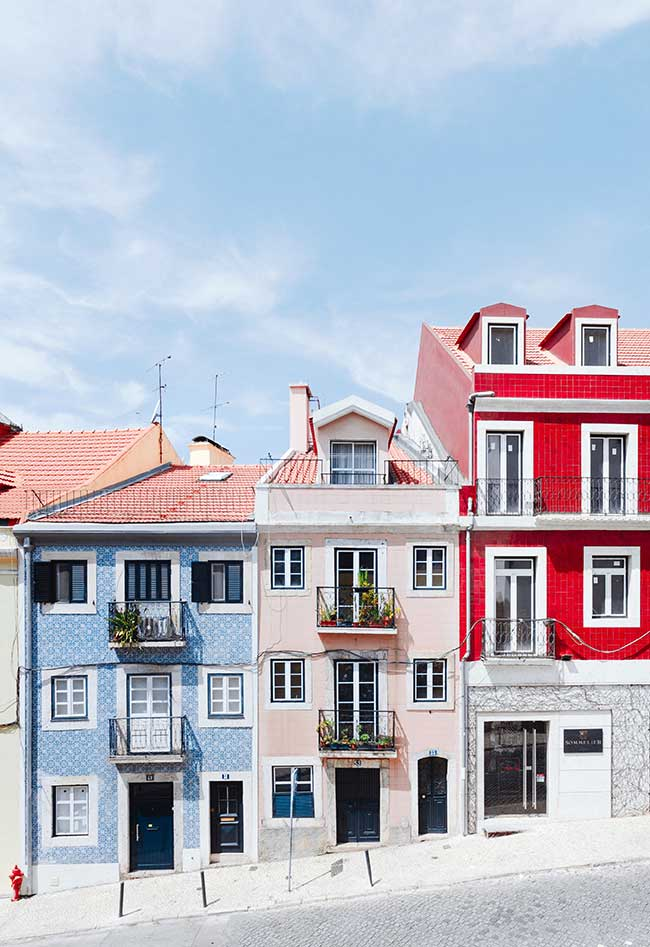 casitas de colores portugal