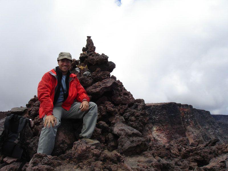 Cima del volcán Mauna Loa en Hawái