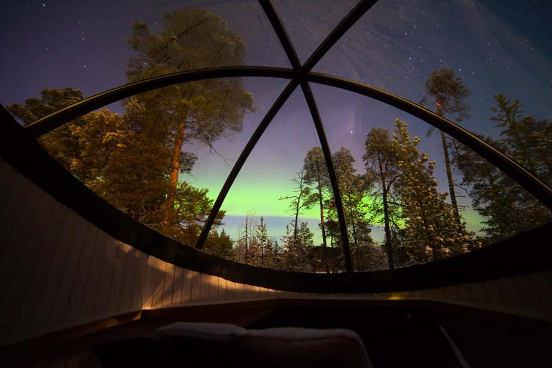 Hoteles en Finlandia para ver auroras boreales - Hotel Wilderness Nellim
