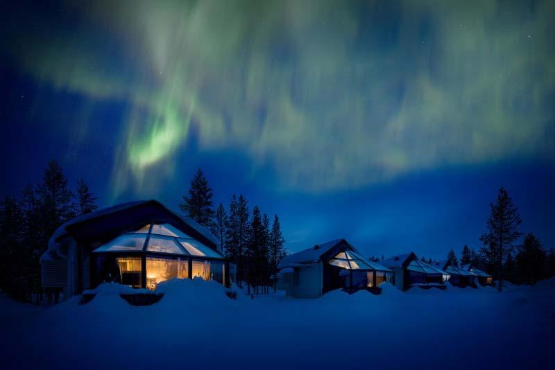 Hoteles en Finlandia para ver auroras boreales - Hotel Santa Glass