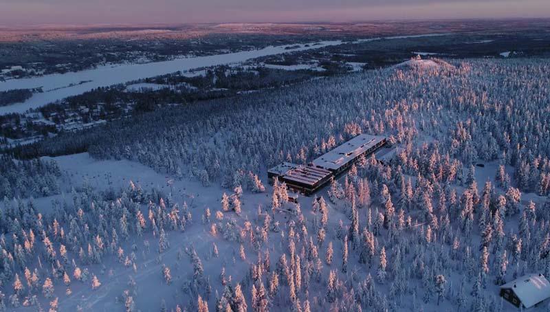Hoteles en Finlandia para ver auroras boreales - hotel Sky Ounasvaara