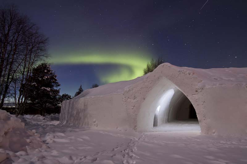 Hoteles en Finlandia para ver auroras boreales - Hotel Snow