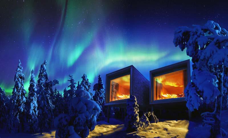 Hoteles en Finlandia para ver auroras boreales - Hotel TreeHouse