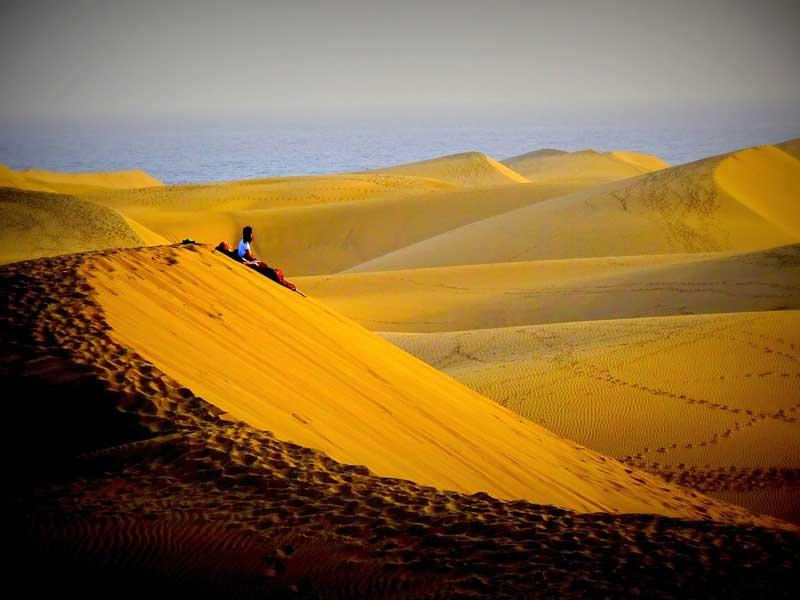 las dunas de maspalomas amanacer